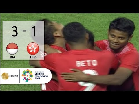 Full Highlights Sepak Bola Indonesia (3) VS (1) Hongkong | Asian Games 2018 - 20/08/2018
