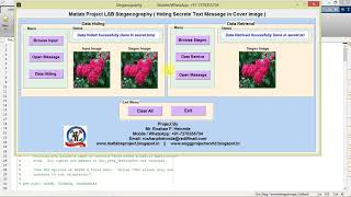 Matlab Project for Lsb Steganography Hiding Secrete Text Message In Cover Image