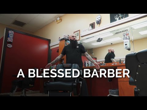 Hugo 'Juice' Tandron, the official barber of the Miami Marlins