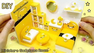 [DIY Miniature gudetama room] 노른자가 한가득!! 미니어쳐 구데타마 방 만들기!! 게으름에 빠져봅시다