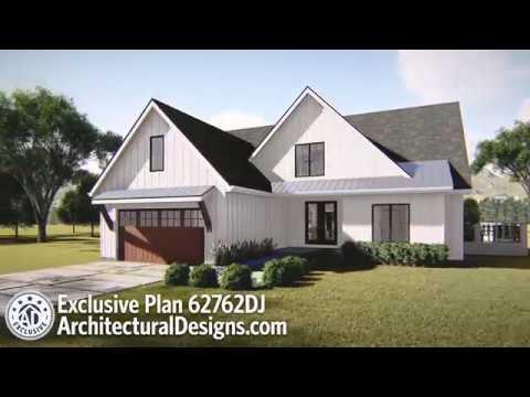 Architectural Designs Exclusive Modern Farmhouse Plan