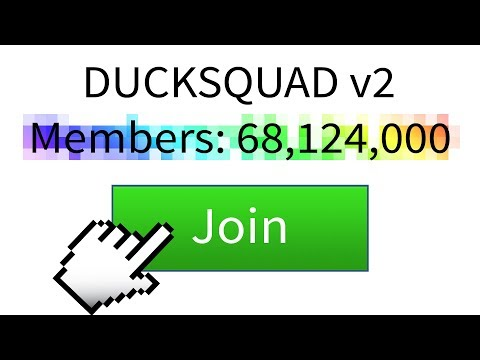 The BIGGEST FREE ROBUX GROUP in ROBLOX! *NEW DUCKSQUAD*