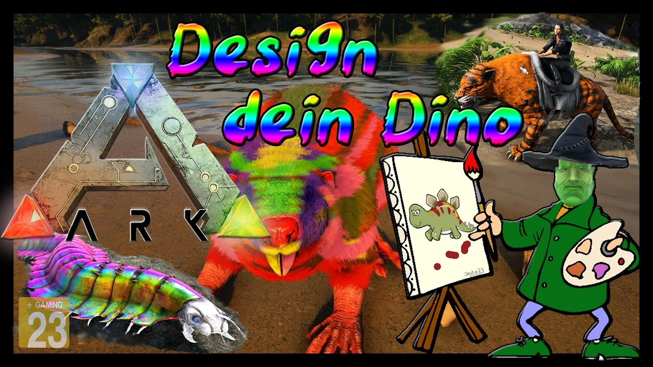 ark survival evolved tutorialguidedeutsch skins malen templates dino design
