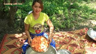 Yummy Sweet Potato Cooking With Palm Sugar   Sweet Potato dessert   Cooking With Sros