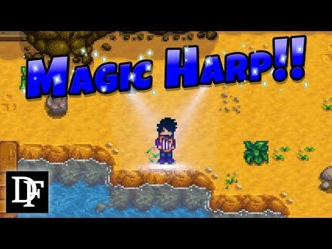 Magic Harp! Harp Of Yoba Redux Mod! - Stardew Valley Gameplay