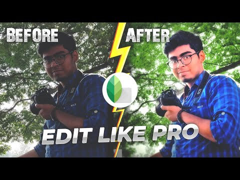 How to Edit AMAZING Photos Only Using Your MOBILE 2020 | Sna