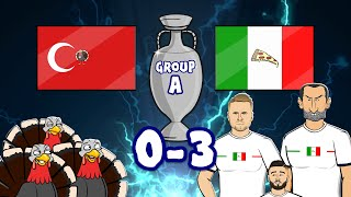 🔥Italy CRUSH Turkey🔥 (0-3 Euro 2020 Goals Highlights Immobile Insigne Demiral own goal)