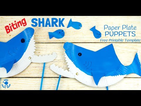 How to make a paper plate shark puppet youtube how to make a paper plate shark puppet maxwellsz