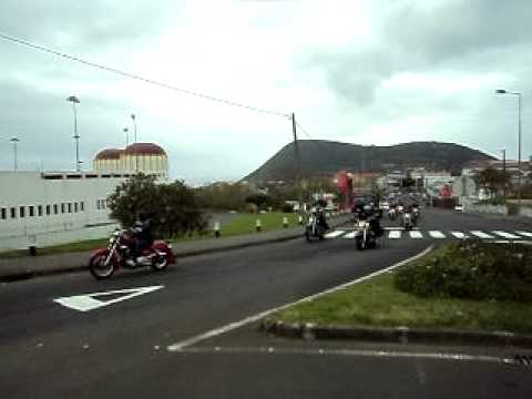 TERCEIRAÇOR DIA DO MOTOCICLISTA 2011   PRAÇA TOUROS Travel Video