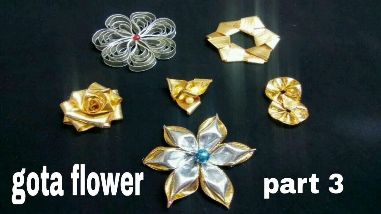 Gota flower | gota Patti flower | gotta flower | ribbon flower | gota work
