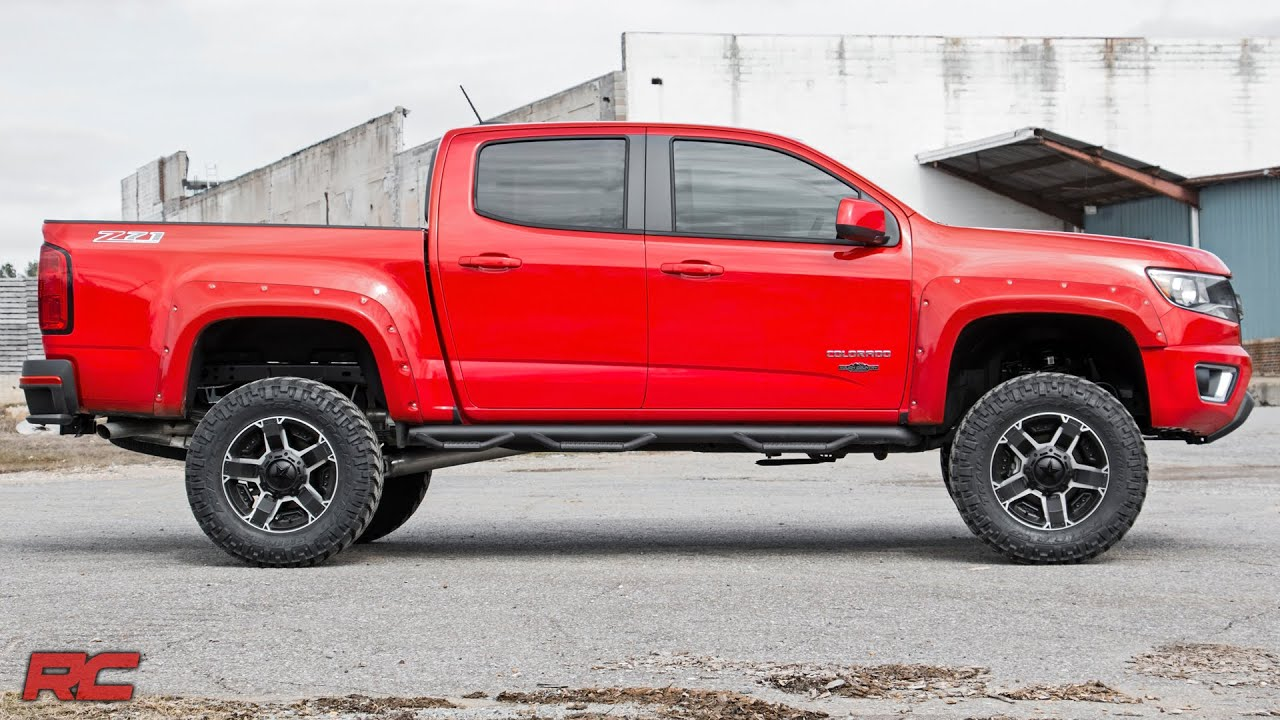 2017 Chevrolet Colorado Fender Flares With Rivets By Rough Country
