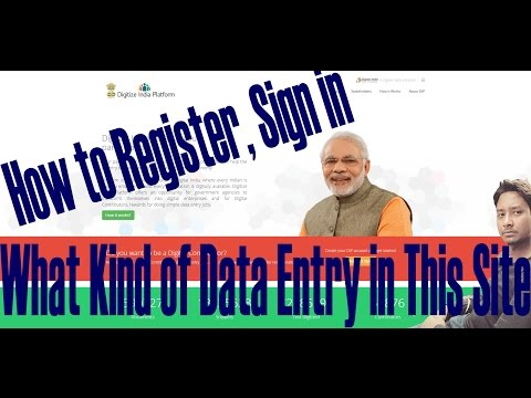 "How to Register, Sign in and ""What Kind of Data Entry in Digitize India Platform"" Video in Hindi"