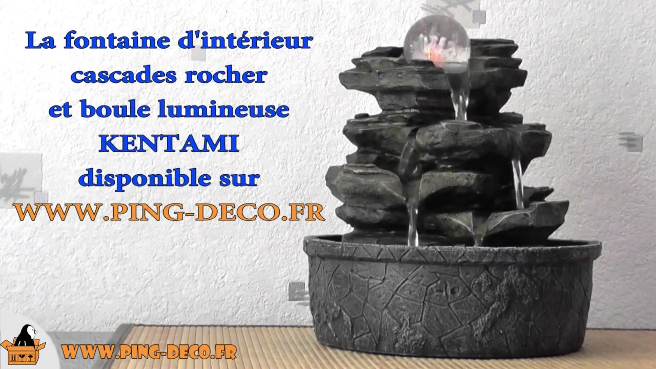 fontaine d 39 int rieur design nature rocher de maison kentami www ping deco fr youtube. Black Bedroom Furniture Sets. Home Design Ideas