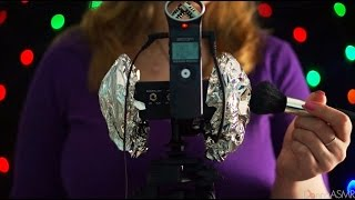 Binaural ASMR. Tin Foil over your Ears (Tapping, Scratching, Brushing, Crinkling)