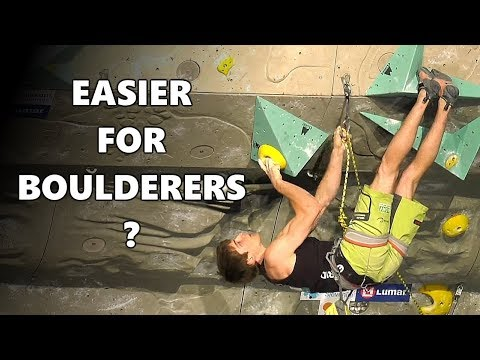 Is the combined format a good thing after all? Is it easier for boulderers?