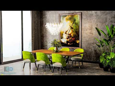 Architectural Visualizations: Interior Rendering (Nice Living Room 022) Using Vray for 3ds max 2018