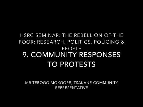 Rebellion of the Poor 9: Community responses