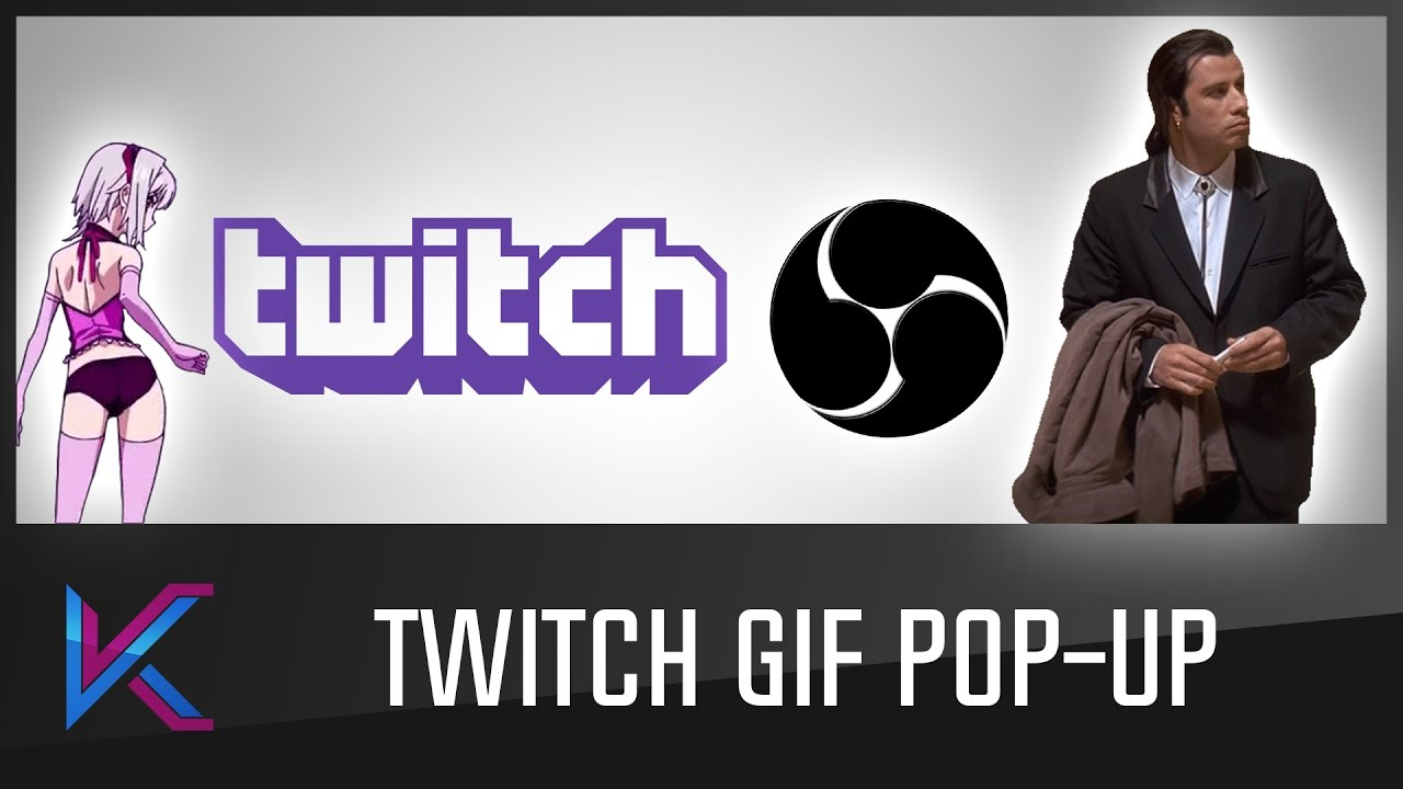 How to show GIF image as overlay in OBS when command is given in twitch chat