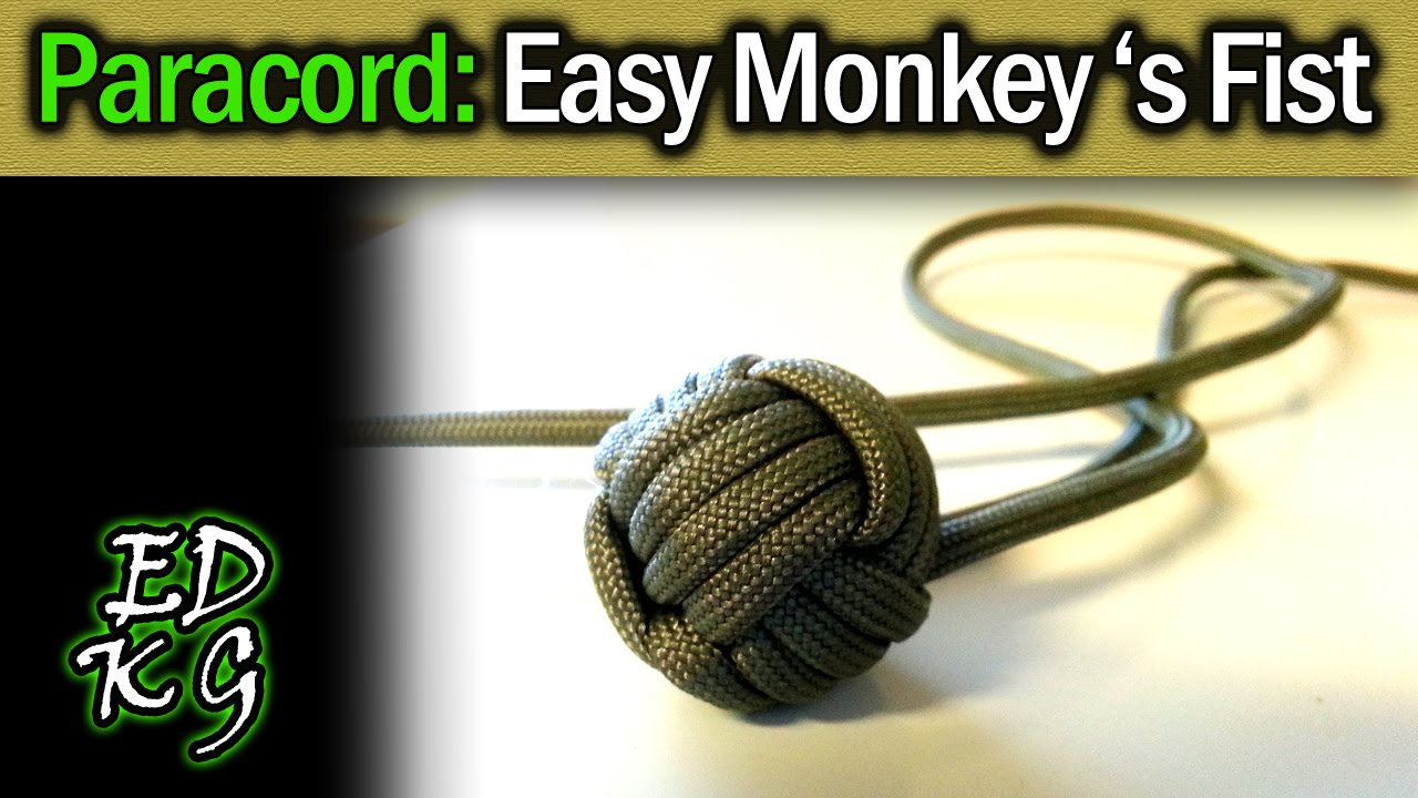 How to make paracord monkey fist
