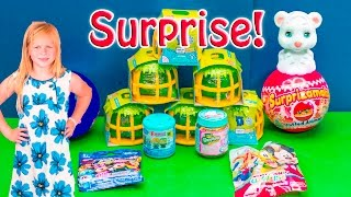 ASSISTANT Jungle in My Pocket Blind Bags with Shopkins + Lego Mini Toys Surprise Video