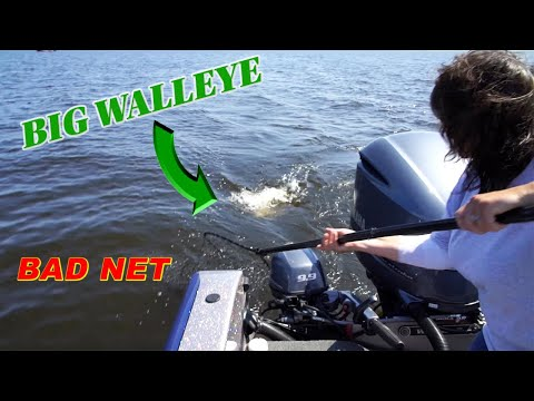 Wife Loses GIANT WALLEYE In Fishing TOURNAMENT