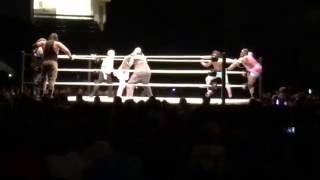 The New Day Vs The Wyatt Family WWE Live Event At Bridgeport CT July 15,2016 Part 8
