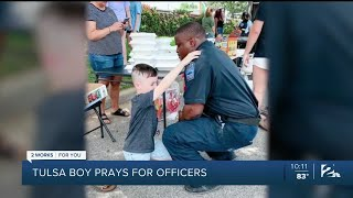7-year-old boy asks to pray for Tulsa police officers