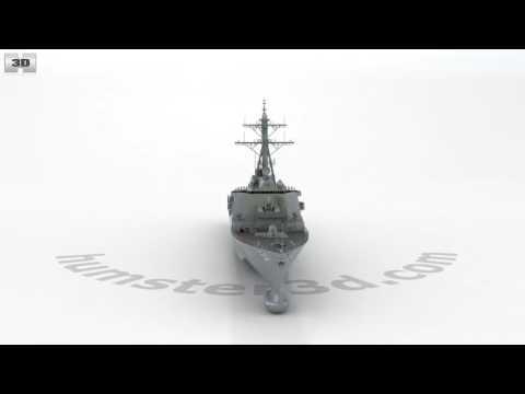 USS Arleigh Burke (DDG-51) 3D model by Hum3D.com