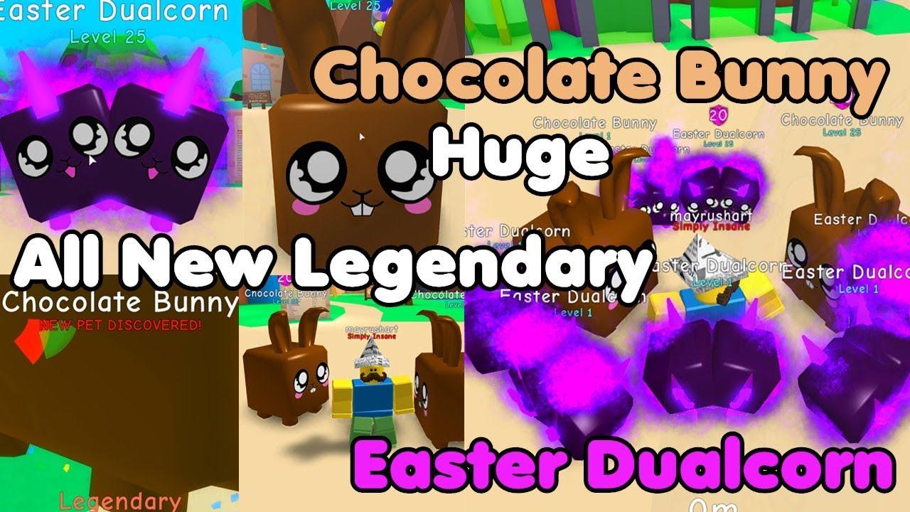 ROBLOX Bubble Gum Simulator Chocolate Bunny Legendary Pet