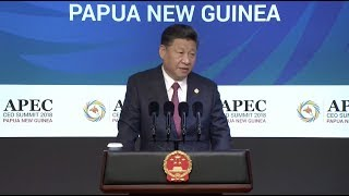 Chinese President Xi Warns Against Rising Protectionism, Unilateralism at APEC CEO Summit
