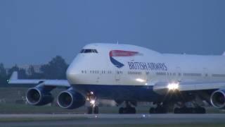 British Airways B747-400 takeoff at YVR.