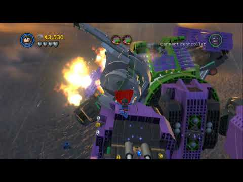 LEGO Batman 2 DC Super Heroes 100% Guide - Down to Earth (All Minikits, Citizen in Peril)