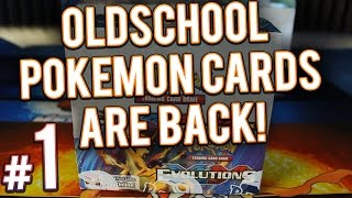 pokemon cards xy evolutions booster box opening   part 1 of 4