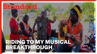 Boda Boda rider with a melodious voice entertains colleagues as he strives for a major breakthrough