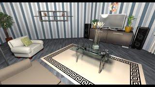 Дизайн красивой гостиной комнаты. - Ep.3 - Интерьеры от Unfiny - Уроки по Sweet Home 3d
