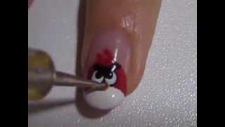 !!!! Маникюр - Angry Birds !!! Злые птички   не будь к ним равнодушна!!!