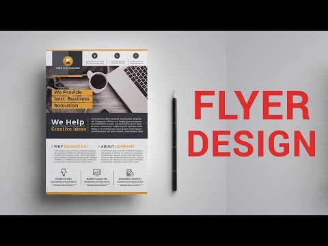 How to Design Corporate Flyer In Photoshop - Bangla Tutorial