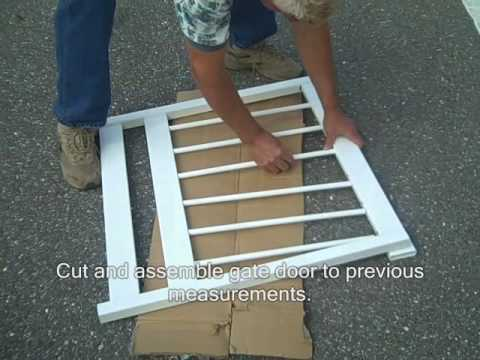Above Ground Pool Fence premium guard - above ground pool fence gate assembly - youtube