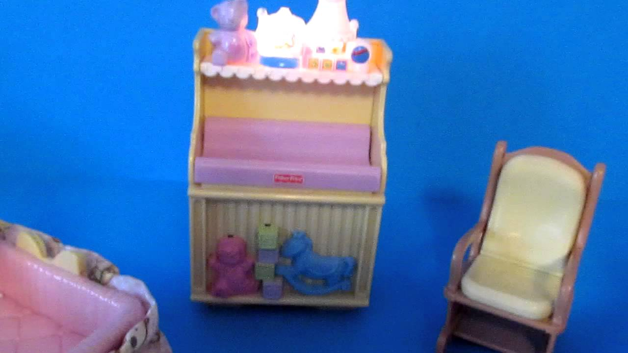 Loving Family Dollhouse Nursery Furniture Lights And Sounds