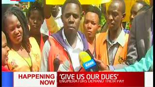 Census Enumerators from Uasin Gishu County demand their pay