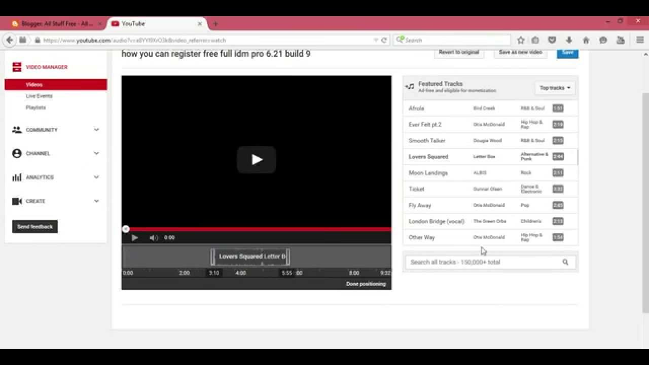 how to add audio or music in youtube video free no copy right new