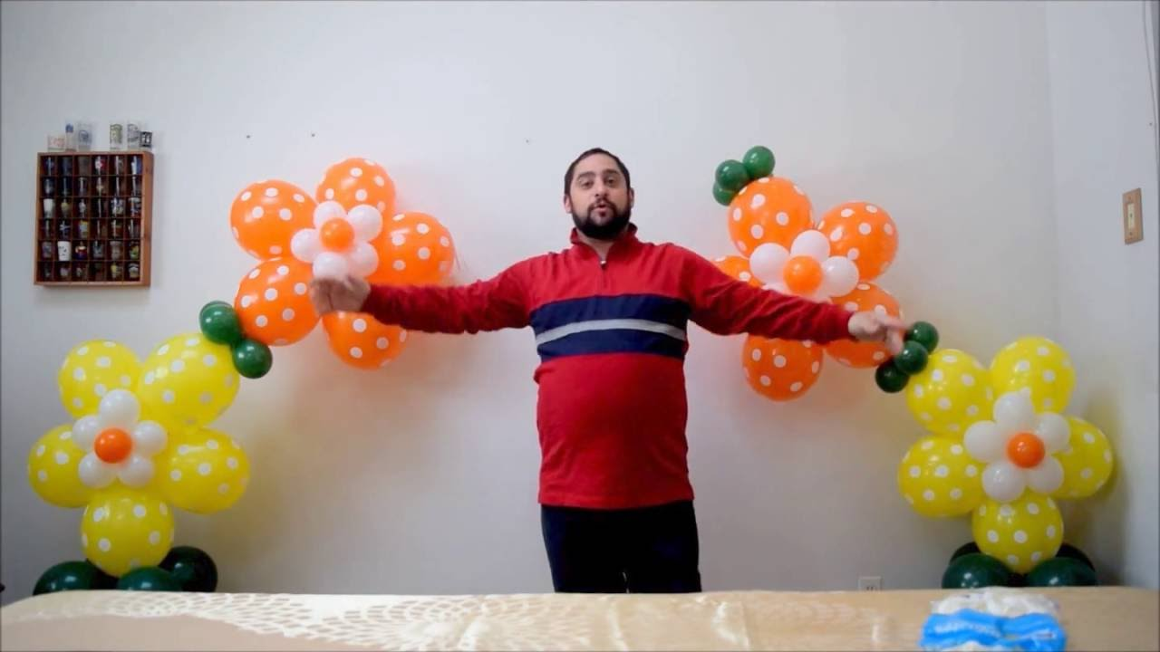 No helium flower balloon arch How to