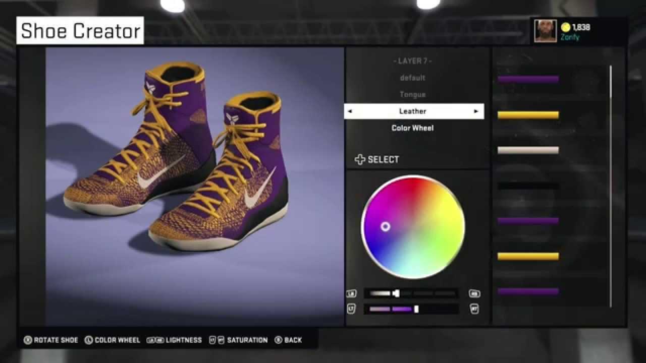 half off 12c85 f4e18 NBA 2K15 Shoe Creator - Nike Kobe 9 Elite