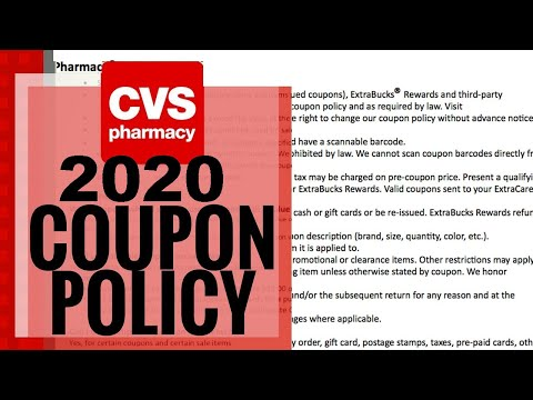 CVS Coupon Policy CHANGE! 2020 Update!