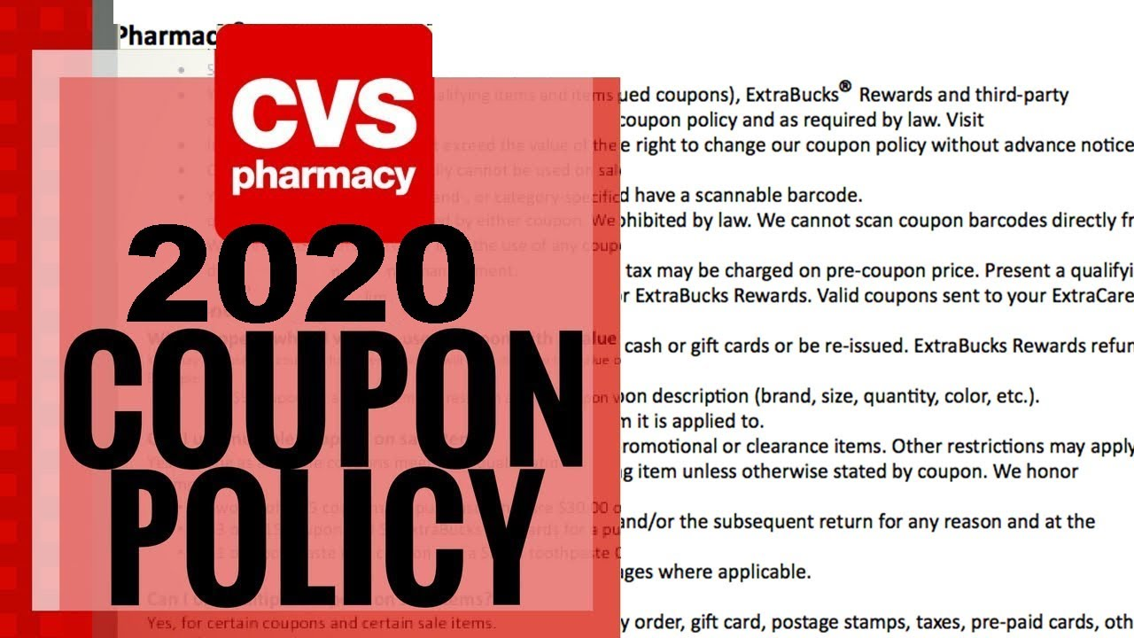 Cvs Coupon Policy Change 2020 Update Youtube