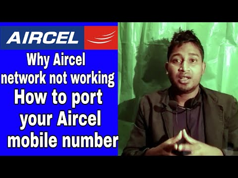 Why Aircel network not working    How to port your Aircel mobile number