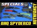 Spyderco Specials: Military, Tenacious at BHQ