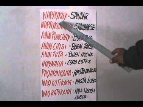 LECCION N 3 CURSO QUECHUA DEL CUY INKA  YouTube