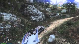 GTA 5 TOWING BOAT TRAILER OFF-ROAD 1