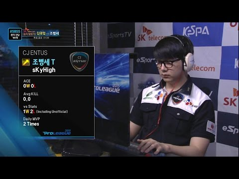 [SPL2015] Stats(KT) vs sKyHigh(CJ) Set1 Deadwing -EsportsTV, Starcraft 2